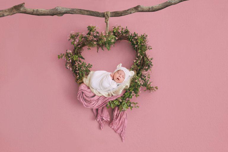 newborn photography floral prop 1