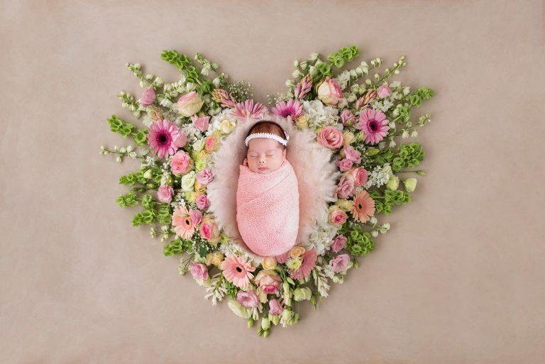 newborn photography floral prop 2