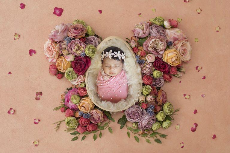 newborn photography floral prop 3