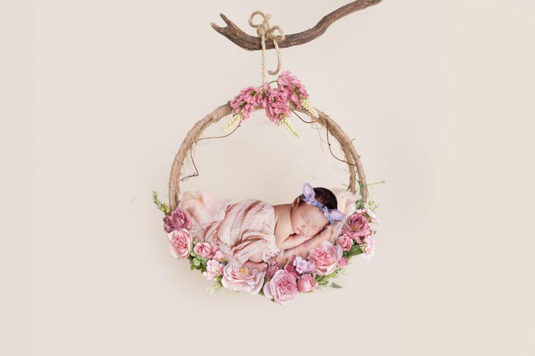 newborn photography floral prop 6