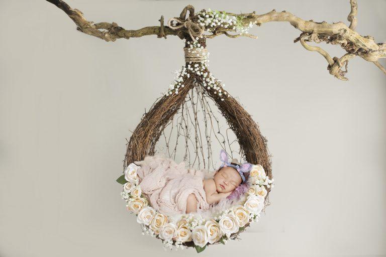 newborn photography floral prop 5