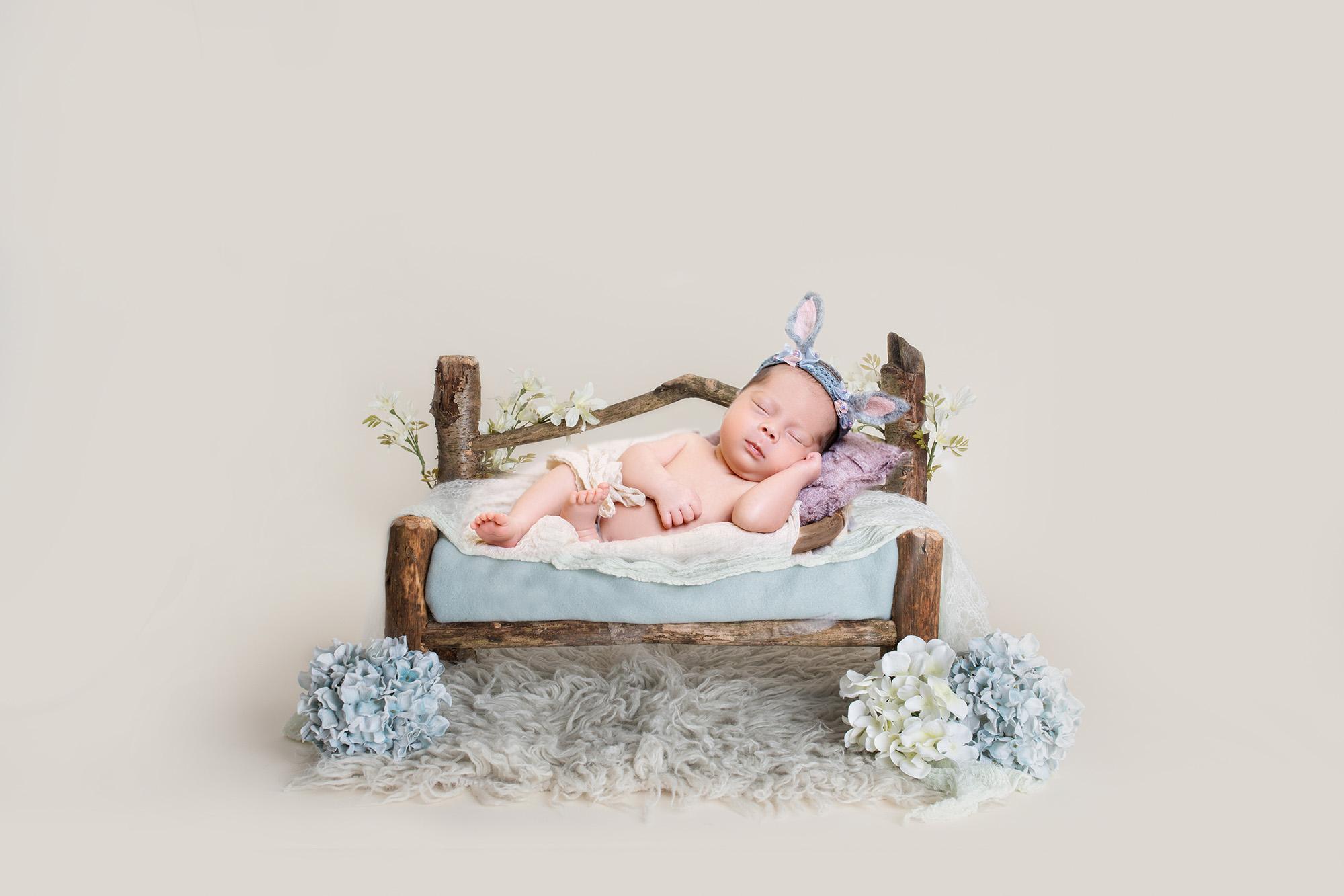 newborn photography floral prop 4